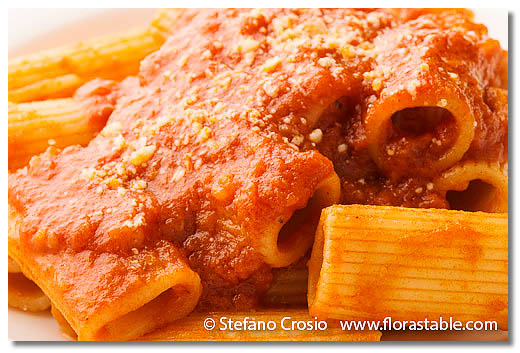 Rigatoni with Sicilian-style stracotto sauce