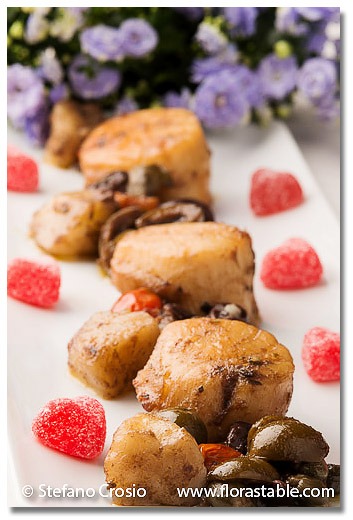Potato and Olive Scallops