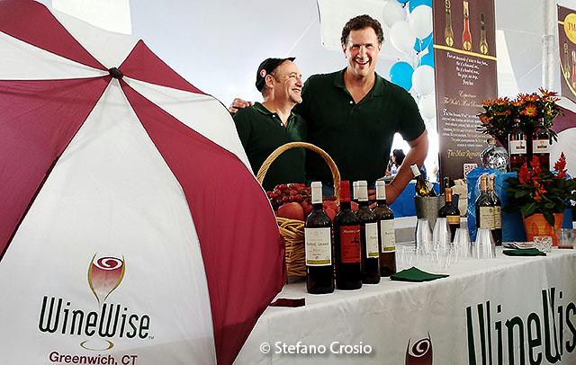 USA, Greenwich: WineWise, a Greenwich wine store at the Greenwich Wine + Food Festival