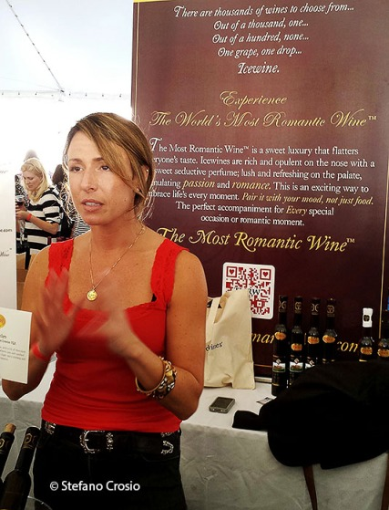 Greenwich, CT: The stand of TMRW, a Canadian icewine importer, at the Greenwich Wine+Food Festival