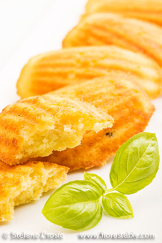 Basel olive oil and cheese madeleines
