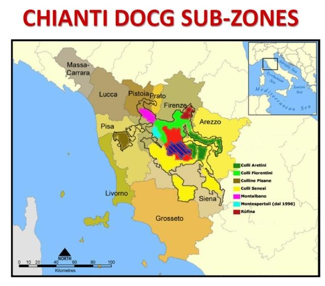 Chianti Appellation Map