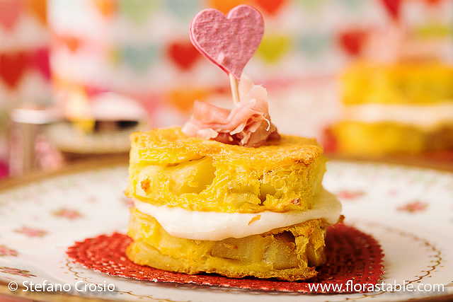 Heart-shaped mini frittata