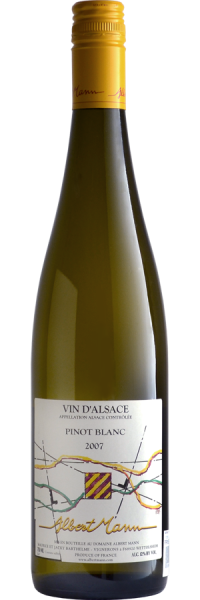 Albert Mann, Pinot Blanc Alsace AOC (Image courtesy of Snooth.com - click on image to go to website)
