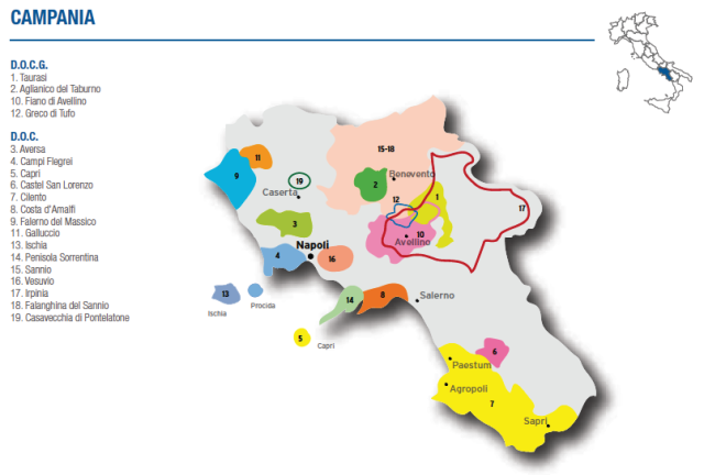 Wine Map of Campania – Courtesy of Federdoc (click on map to go to website)