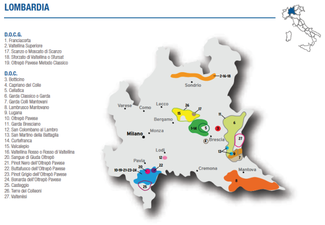 Wine Map of Lombardia – Courtesy of Federdoc (click on map to go to website)