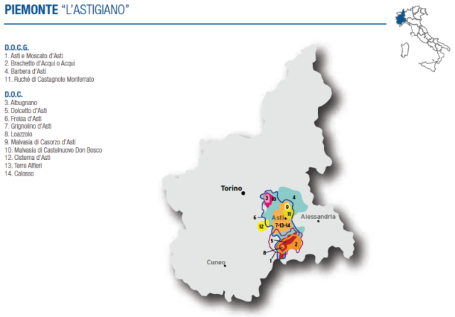 Wine Map of Piemonte (Astigiano) – Courtesy of Federdoc (click on map to go to website)