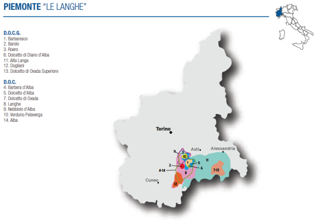 Wine Map of Piemonte (Langhe) – Courtesy of Federdoc (click on map to go to website)