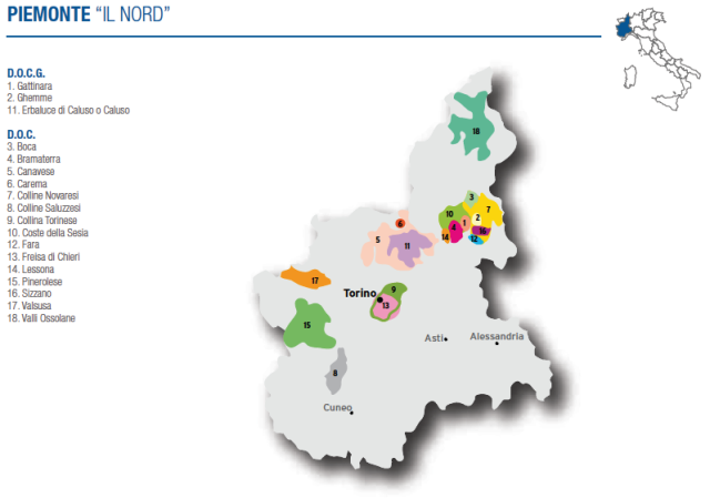 Wine Map of Northern Piemonte – Courtesy of Federdoc (click on map to go to website)