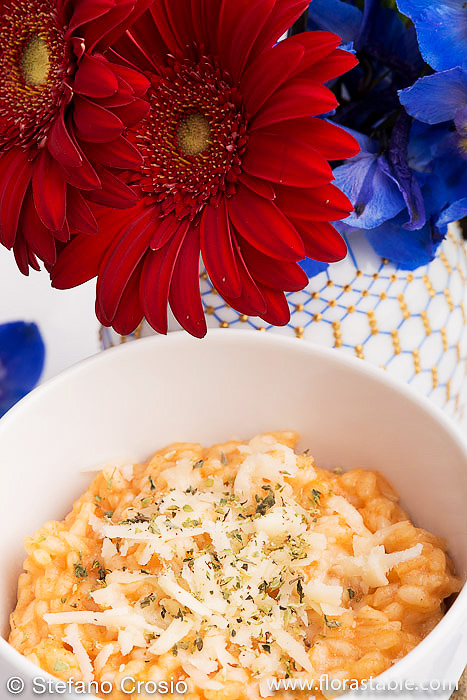 Tomato and provolone risotto