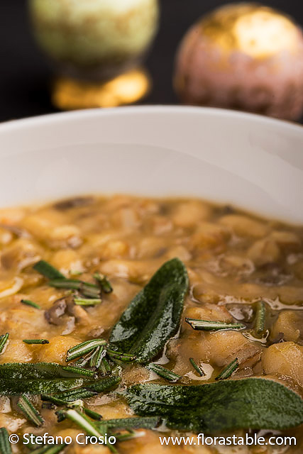 Farro and legume soup